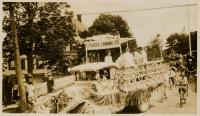 R.J. Peacock Canning Company Float, Lubec, ca. 1930