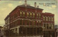 First National Bank of Bath postcard, ca. 1913