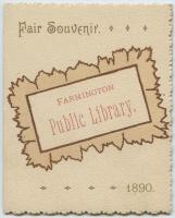 Fair souvenir, Farmington Public Library, 1890
