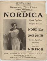 Farewell appearance of Lillian Nordica, London, ca. 1913