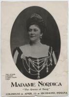 Madame Nordica concert poster, ca. 1897
