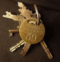Alameda Opera House keys, Bath, ca. 1913