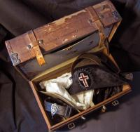 Masonic trunk, open