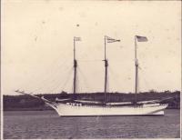 "The Schooner ""Pendleton Sisters"", Islesboro, ca. 1900"