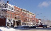 North side of Main Street Business Block, Looking west to east, Thomaston, Maine 2008