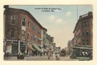 Corner of Main and Lisbon Streets, Lewiston, ca. 1914