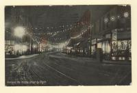 Portland, Middle Street by Night, ca. 1910