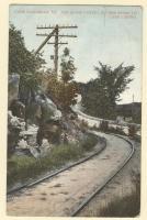 "Cape Elizabeth ""Go Slow Curve,"" on the road to Cape Casino, ca. 1909"