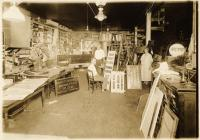 Sign painting shop, Portland, ca. 1910