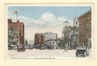 Congress St. and Y. M. C. A. Building, Portland, ca. 1910