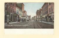 Looking down Lisbon Street, Lewiston, ca. 1905
