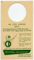 Civil Defense hang tag, ca. 1958