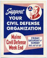 Civil Defense Week End poster, 1958