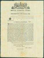 New Brunswick border dispute proclamation, 1839