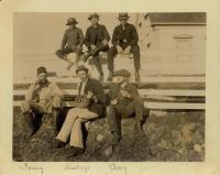 Bowdoin group at Negro Island Harbor, Nova Scotia, 1891