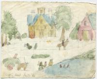 Landscape by Alexander W. Longfellow Sr. and Jr., Portland, 1860