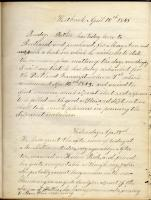 Zelia A. Lunt diary, Westbrook, 1843-1844