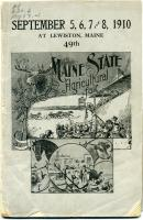 Maine State Fair premium list, Lewiston, 1910