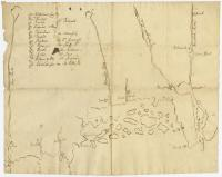 Map of coastal Maine forts, 1723