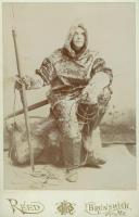 Ernest B. Young in sealskin clothing, Brunswick, 1891