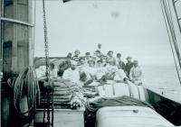 First day at sea for the Bowdoin Boys, 1891