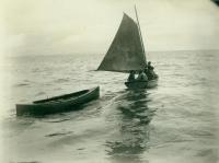 Grand River party leaving the 'Julia A. Decker,' Labrador, 1891