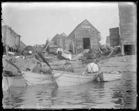 Fishermen arriving at Fish Beach, Monhegan, ca. 1898