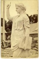"""Statue of Faith"" for Plymouth, Hallowell Granite Works, 1877"