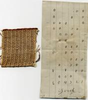 Fabric Sample with Weaving Pattern, York Mills, 1842