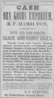 Advertisement, B.F. Hamilton, Saco, 1856