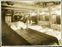 Bale breakers at the Pepperell Mills, Biddeford ca. 1925