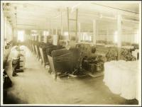 Picker machines at Pepperell Mills, Biddeford ca. 1925