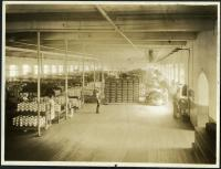 High-speed warping room, Pepperell Mills, Biddeford, circa 1925