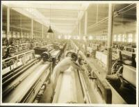 Wide sheeting looms at Pepperell Mills, Biddeford, ca. 1925