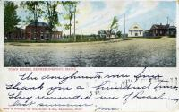 Panorama of Town House Corners with Car Barn, Kennebunkport, ca. 1905