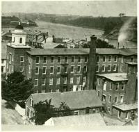 Hallowell Cotton Mill, Academy Street, ca. 1885