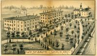Westbrook Seminary, Campus Engraving, 1886