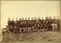 Portland Light Infantry muster, Augusta, ca. 1892