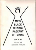 Program, Miss Black Teenage Pageant, 1973