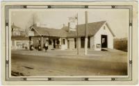 Socony Garage, Water Street, Hallowell, ca. 1930