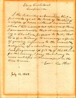 Eben Carleton letter seeking forgiveness, Blue Hill, 1829