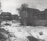 Sawmill at Mill Stream, Blue Hill, ca. 1910