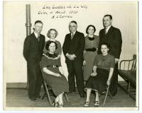 "Cast of ""Les Luttes de la Vie"", Biddeford, 1937"