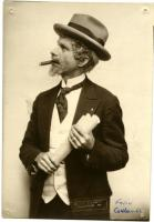 Felix Coulombe in costume, Biddeford, ca. 1925
