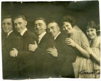 J. J. Salvas and Franco actors, Biddeford, ca. 1925