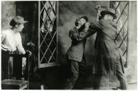 Scene from unknown play performed by Franco amatures, Biddeford, ca. 1925