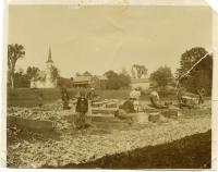 Corn Husking, North Turner, ca. 1900
