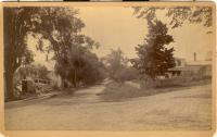 View of downtown Blue Hill, ca. 1900