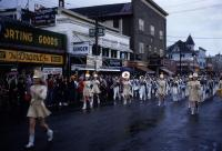 Parade up Main Street, Sanford, ca. 1955