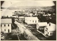 View of Pleasant Street and Blue Hill Bay, ca. 1850